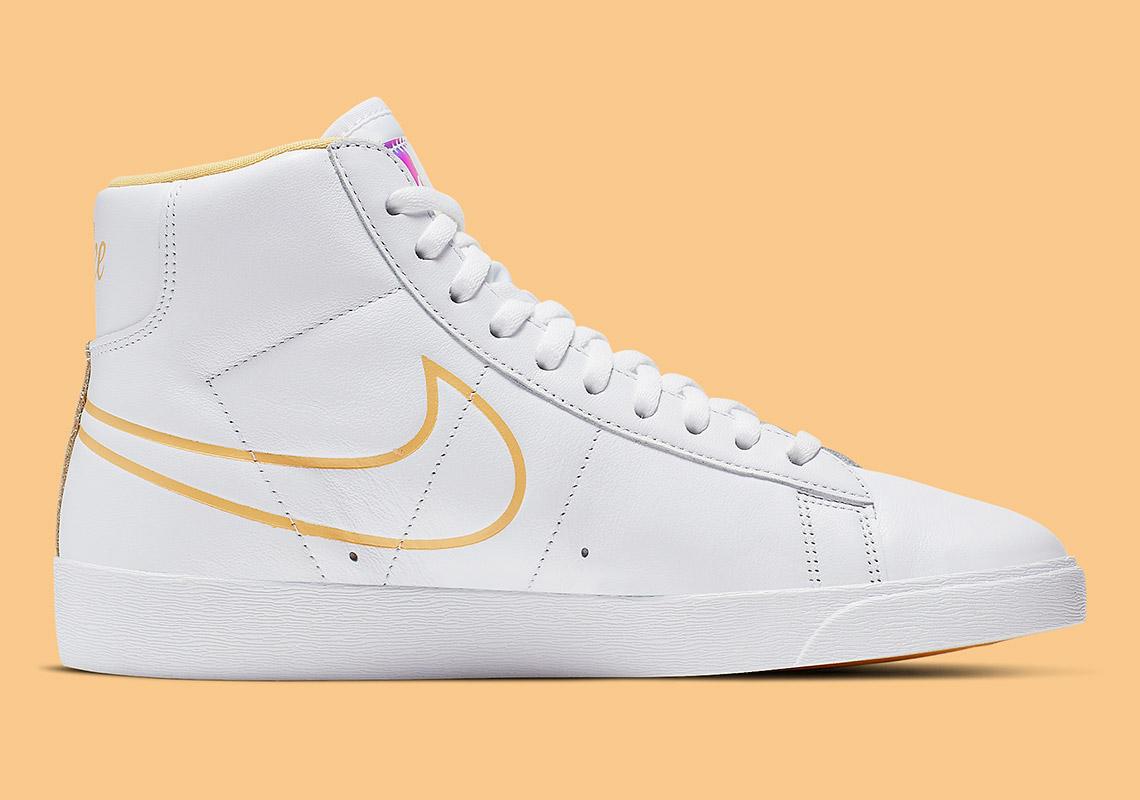 Nike Blazer Mid WhiteTopaz Gold Release Information