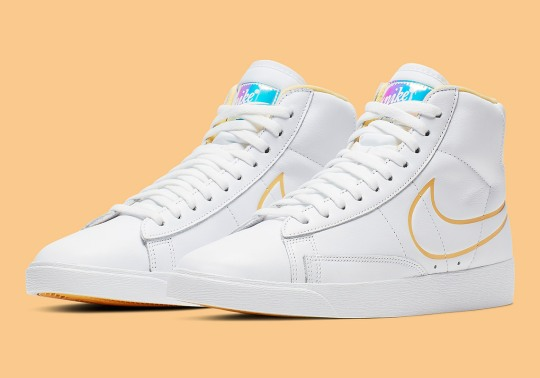 Nike Adds Shiny Iridescent Tongue Logos To The Blazer