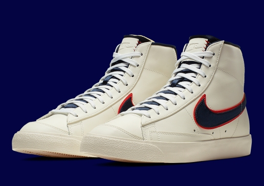 new arrival 0ff11 1317e The Nike Blazer Mid 77 QS Appears In Cream Leather