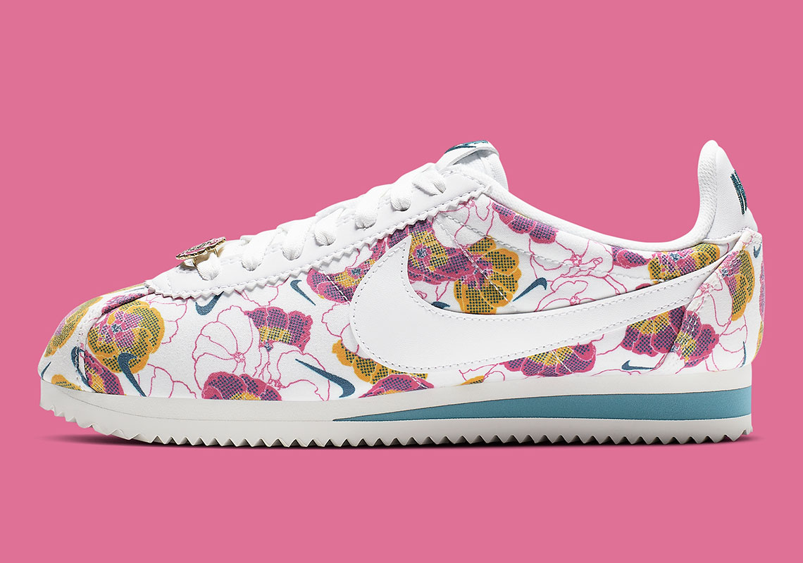 2cd9d1222fe53 Nike Cortez Floral Pack AV1338 001 Release Info | SneakerNews.com