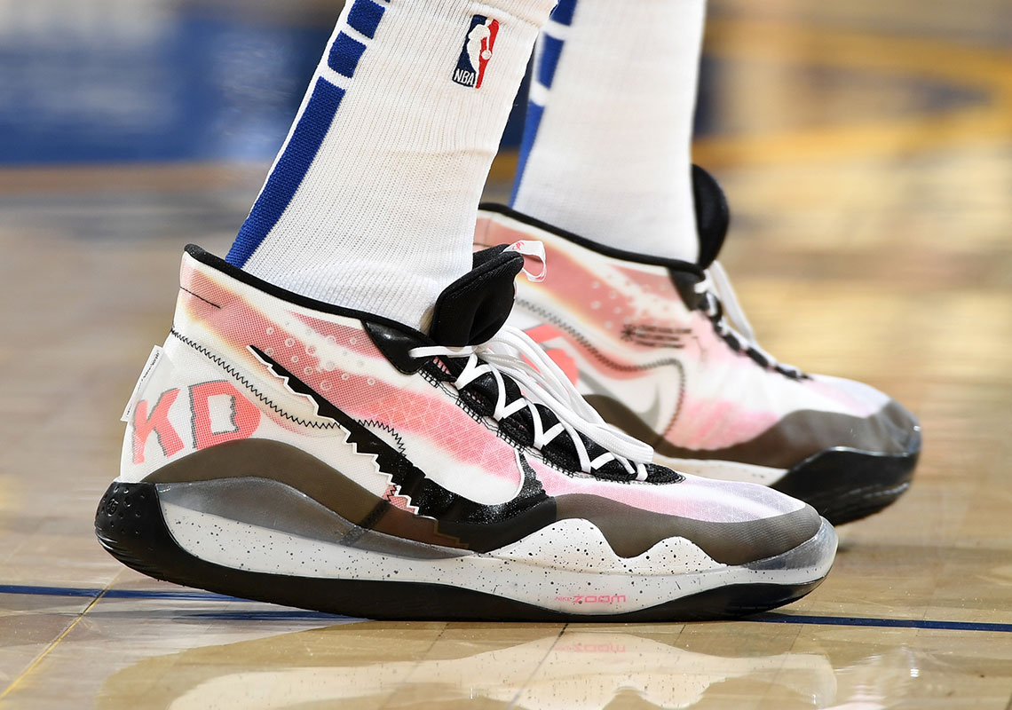 549f061fa0a Kevin Durant Debuts A Nike KD 12 PE Inspired By White Men Can t Jump And  Above The Rim