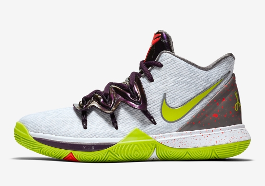 """ba4bf4f29b0 The Nike Kyrie 5 """"Mamba Mentality"""" Is Inspired By The Chaos Colorway"""