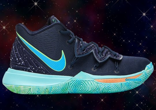 "c371ed75003 Kyrie Irving Is Ready For The Playoff Spotlight With The Nike Kyrie 5 ""UFO"""