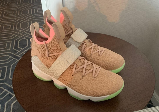 "LeBron James Spotted In A Nike LeBron 15 ""Air Yeezy 1"""
