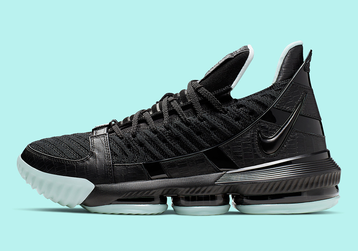timeless design 17509 a7a06 Nike LeBron 16 Black Glow CD2451-001 Release Info ...
