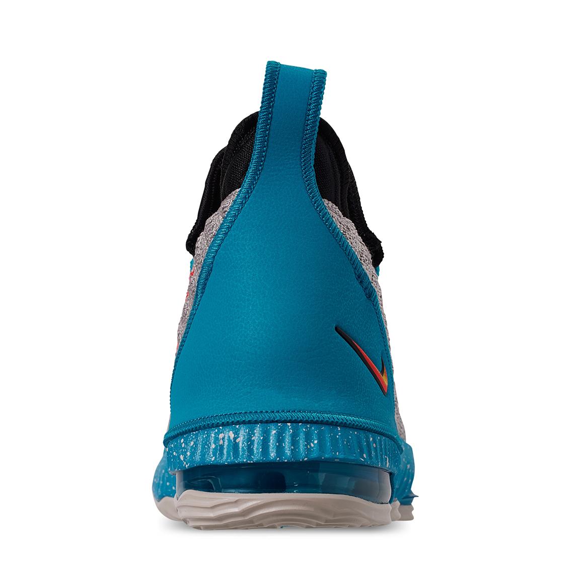 1e171987b7b597 Nike LeBron 16 Kids South Beach AQ2465-076 Release Date ...