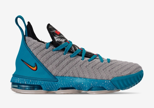 new style 9b48d 4320a The Nike LeBron 16 For Kids Arrives In A South Beach Theme