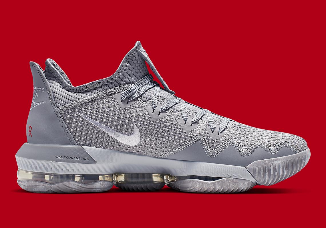 size 40 4919e 45907 Nike LeBron 16 Low Grey Red CI2668-003   SneakerNews.com