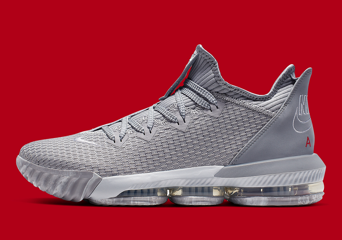 d15f4ef93d1 The Nike LeBron 16 Low Appears in Ohio State Buckeyes Colors