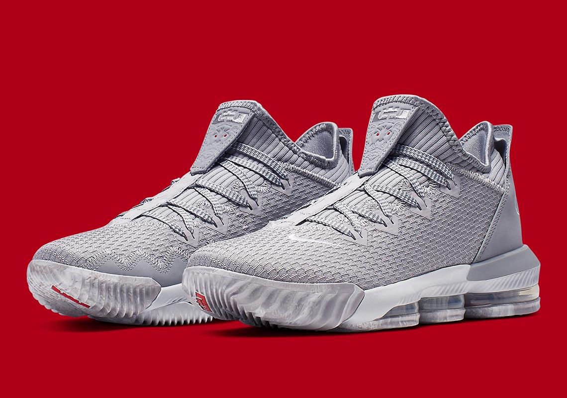 on sale f6298 e890c Nike LeBron 16 Low Grey Red CI2668-003   SneakerNews.com