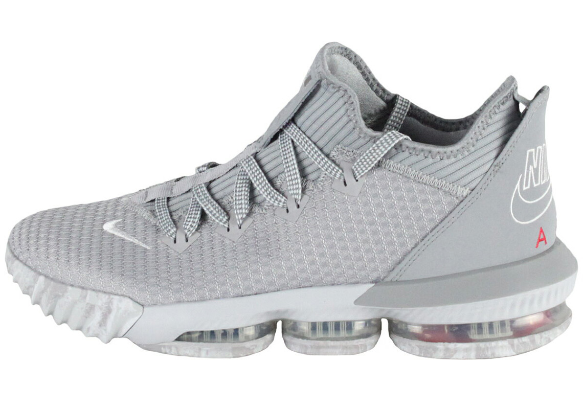 b4887a8b939 Nike LeBron 16 Low Release Date  May 2019  160. Color  Wolf Grey White-Pure  Platinum-University Red