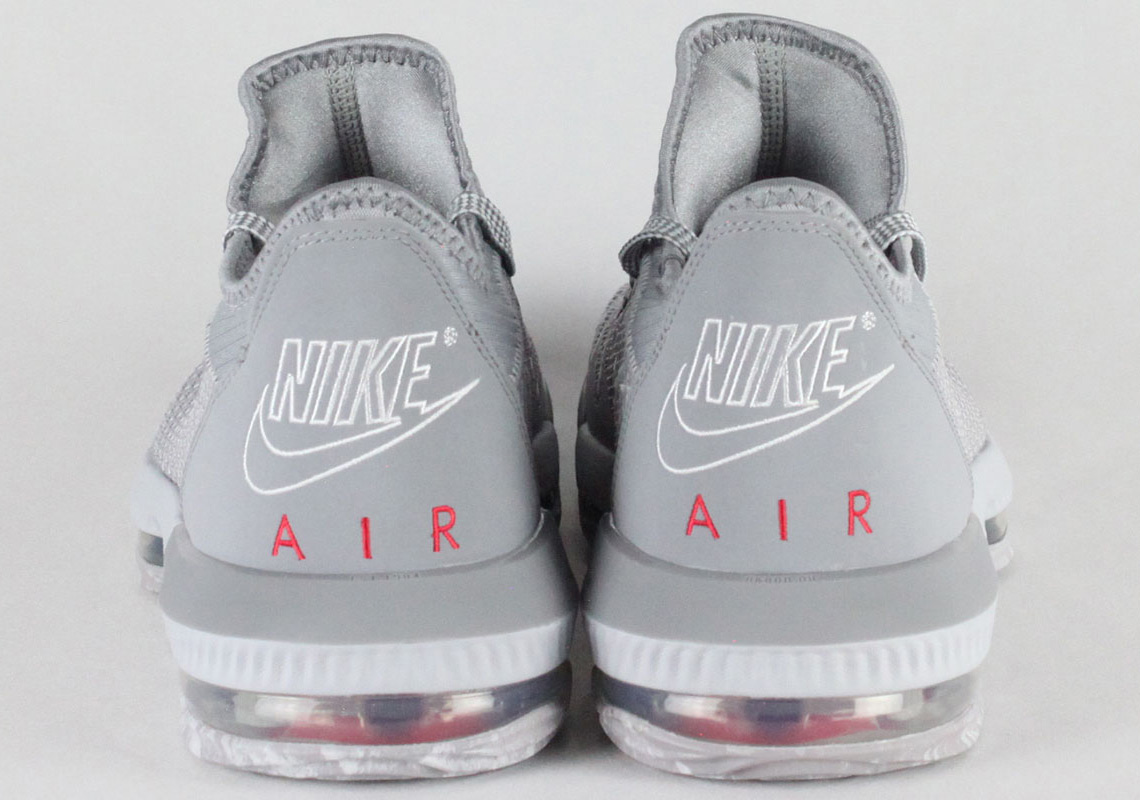 Nike LeBron 16 Low Grey Red CI2668-003