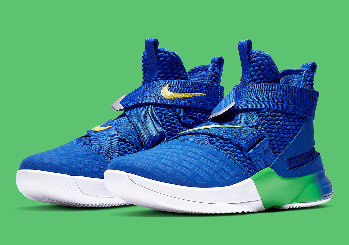 "brand new 7b729 73af1 Nike LeBron Soldier 12 Flyease ""Big Taste"" Remembers A Past Sprite Ad"