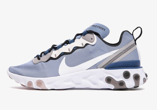 "Nike React Element 55 ""Indigo Fog"" Hits Stores On May 20th"