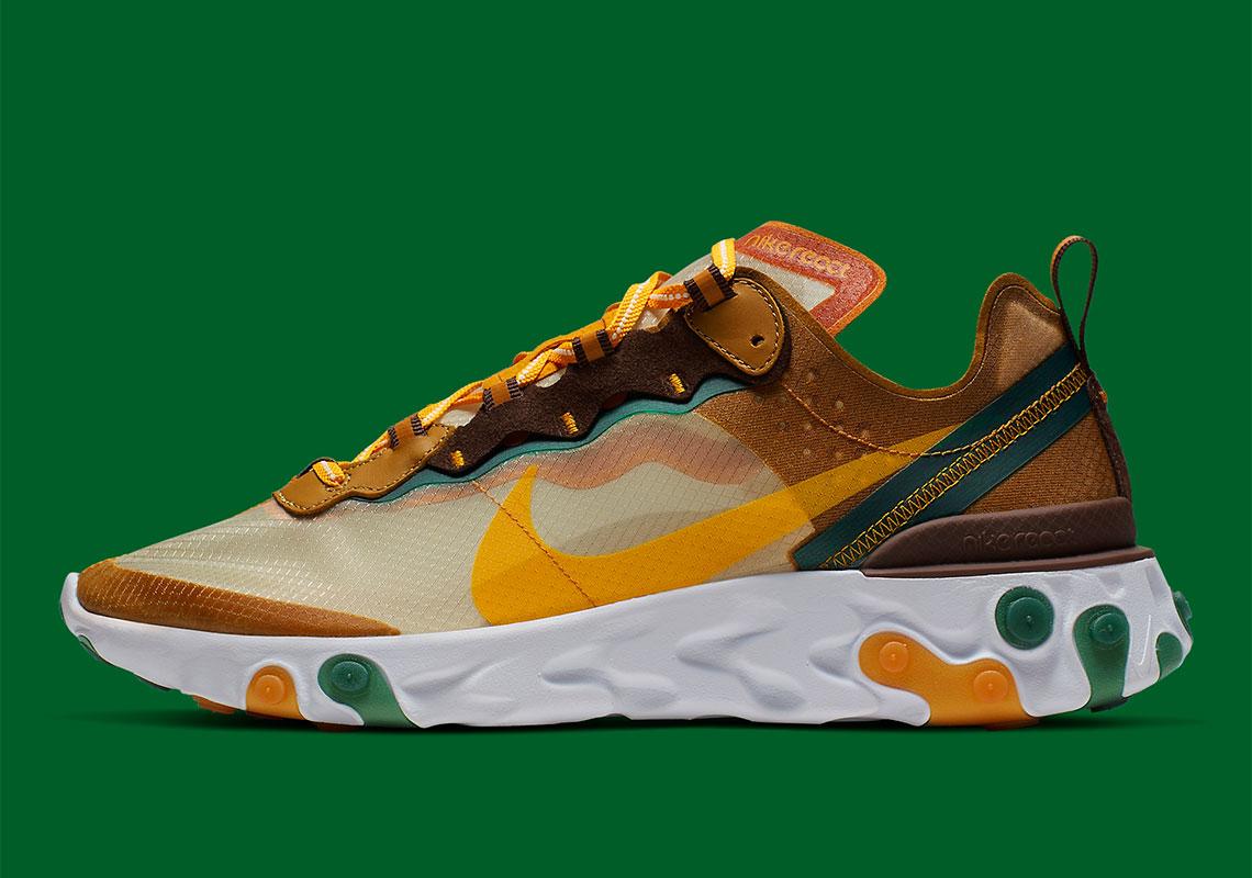 Nike React Element 87 Pale Ivory Orange