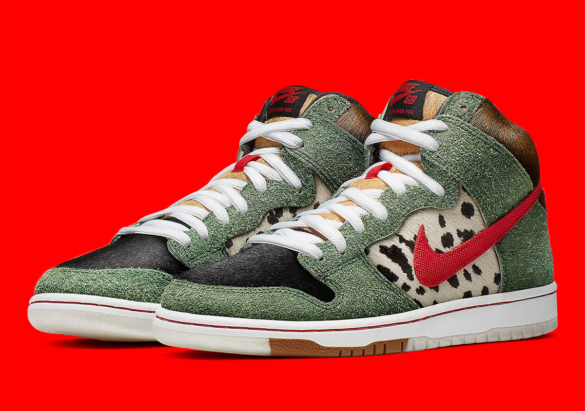 """newest 15869 f49a0 Nike SB Dunk High """"Dog Walker"""" Releases On 4 20"""
