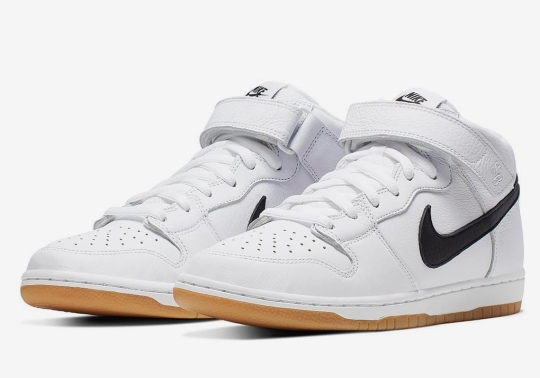 "Nike SB Dunk Mid ""Orange Label"" Introduced White Leather And Gum Soles"
