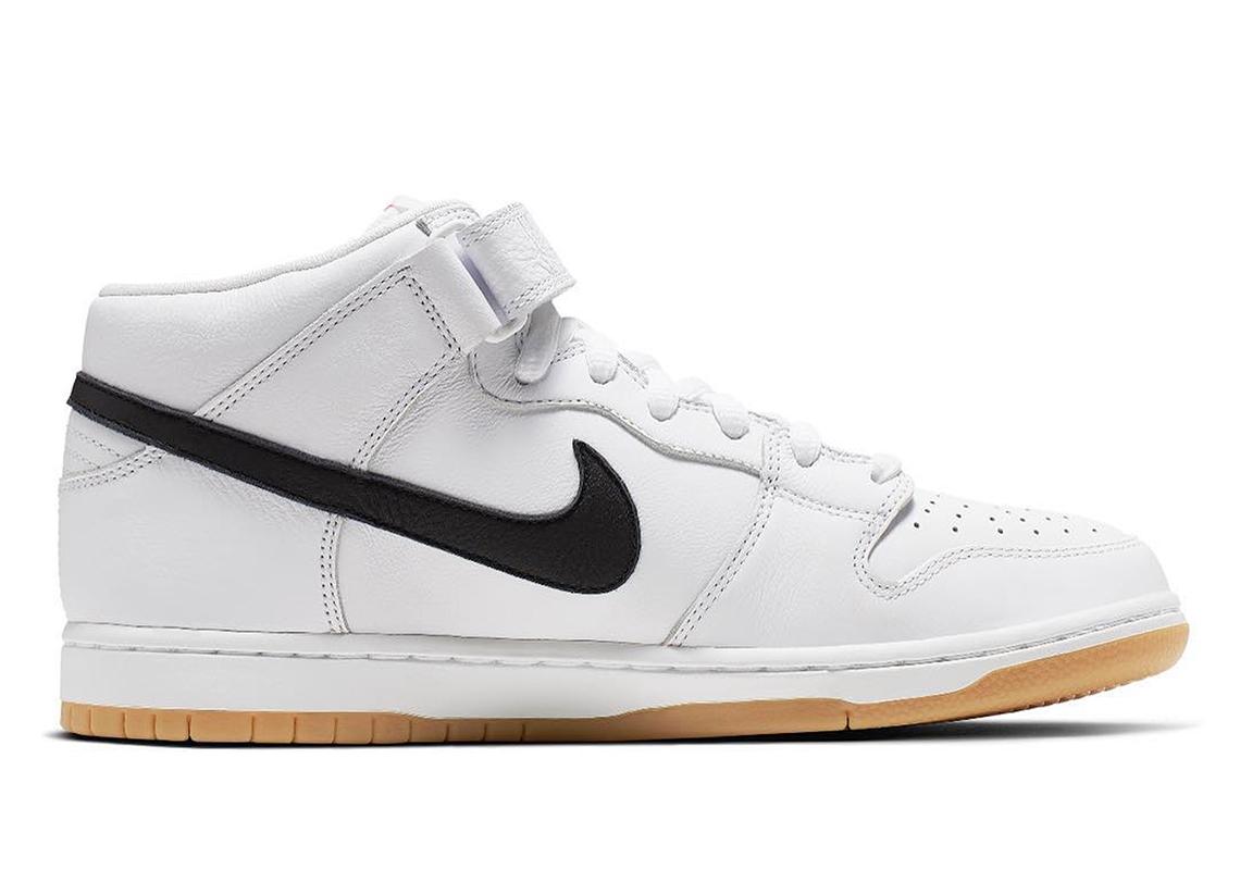 Nike SB Dunk Mid Orange Label White