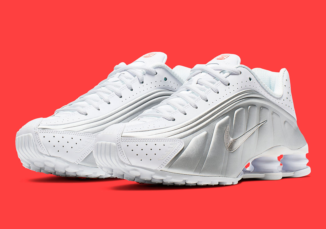 765dc7eea The Nike Shox R4 Resurgence Continues With New Silver And Crimson Colorway