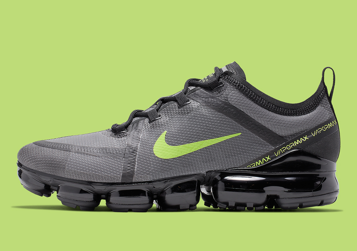 more photos 7e6a7 87757 Nike Vapormax 2019 Black Grey Volt CI6400-001 Info ...
