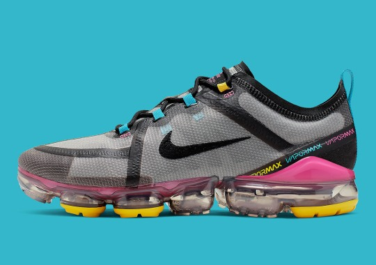 The Nike Vapormax 2019 Adds A Colorful Array To A Black Upper