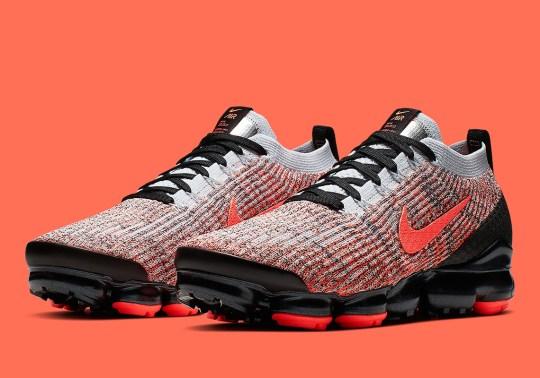 "Nike Vapormax Flyknit 3 ""Hyper Crimson"" Is Coming Soon"