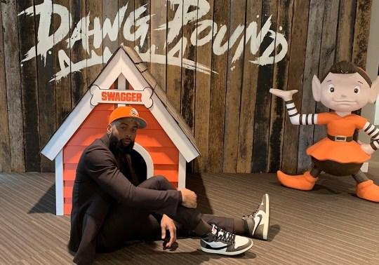 OBJ Wears Travis Scott x Air Jordan 1 For Cleveland Browns Press Conference
