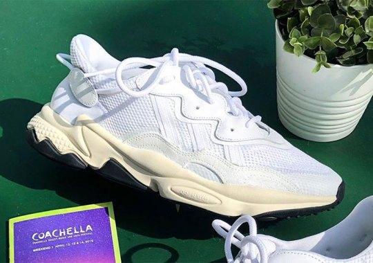 "8d7a01af4375f Pusha T Reveals adidas Ozweego ""Nose Candy Mandy"" At Coachella"