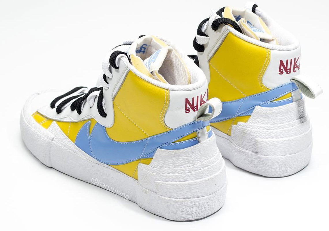 Sacai Nike Blazer With Dunk Blue Yellow Release Info