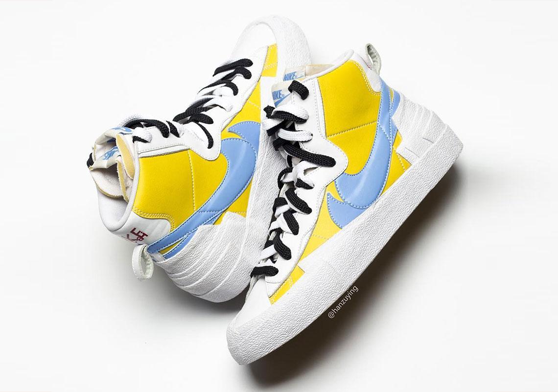 sacai Nike Blazer With Dunk Blue Yellow