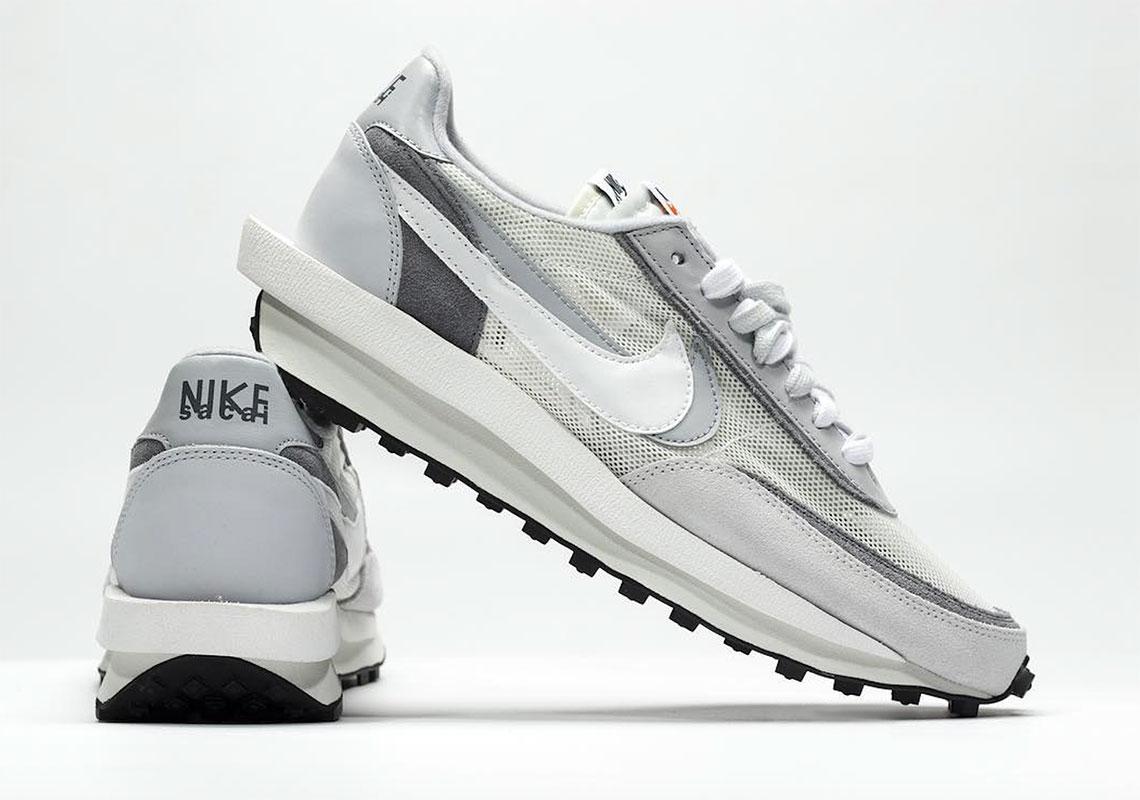 nike x sacai white grey