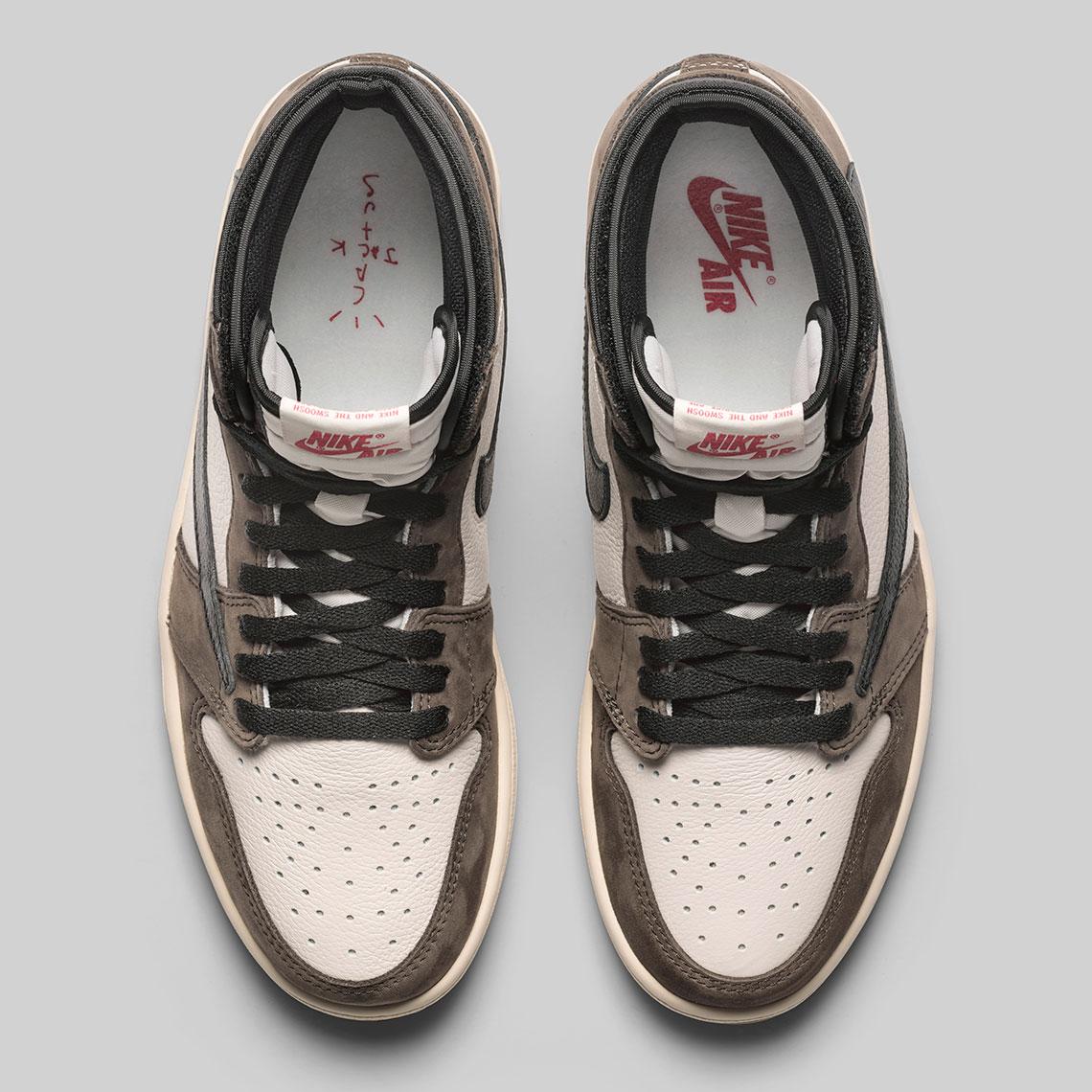 Delgado Prima cortesía  Travis Scott Air Jordan 1 Official Release Date   sneakerNews.com