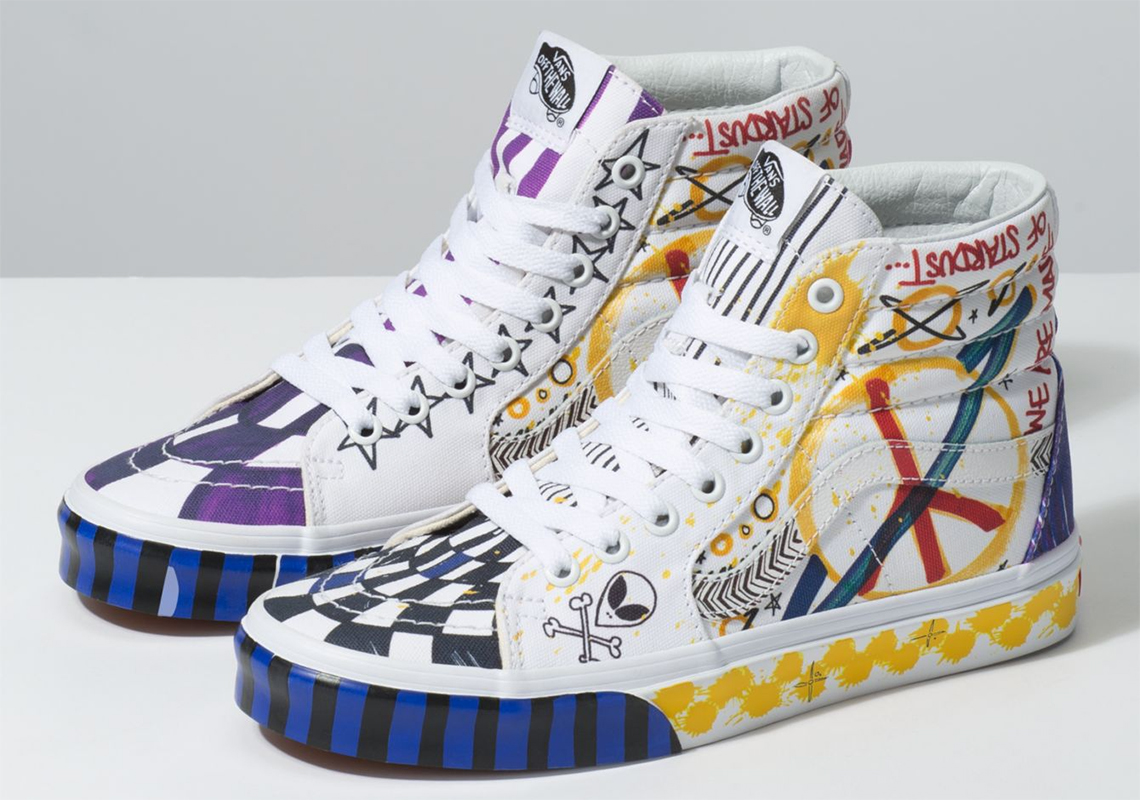 "c7ff6c2942 The Vans ""Galactic Goddess"" Pack For Women Adds Wild Graffiti Prints On Two  Icons"