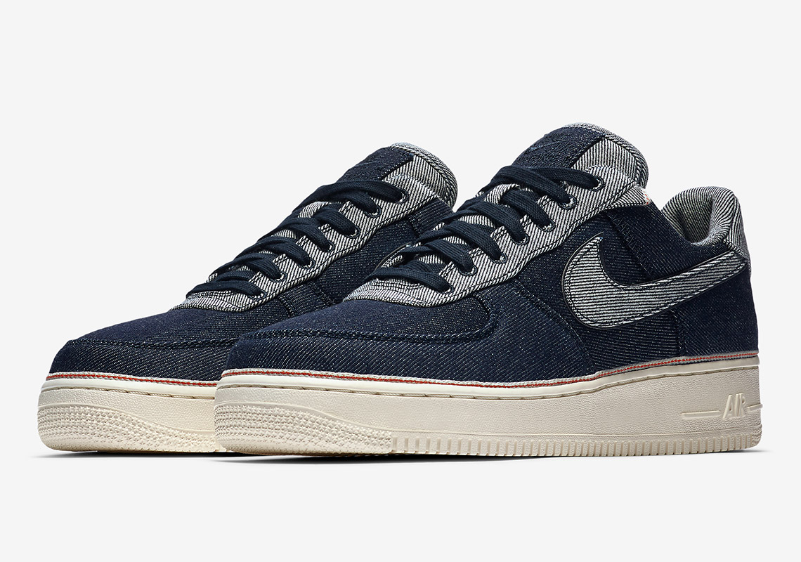 402 3x1 Nike 1 Denim 905345 Info Force Release Air NO0v8wmn