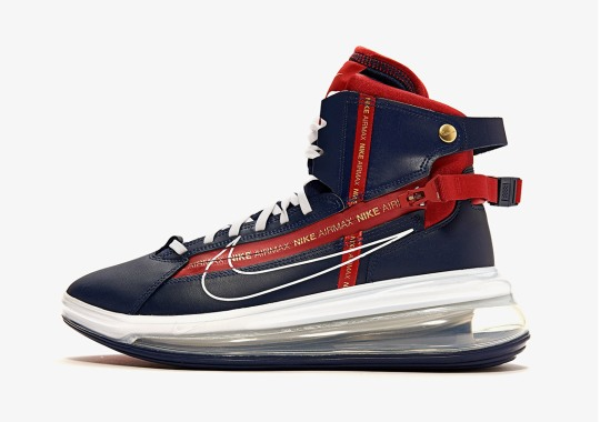 cheap for discount 1ba95 dcb5d The Eccentric Nike Air Max 720 Saturn Appears In Navy And Red