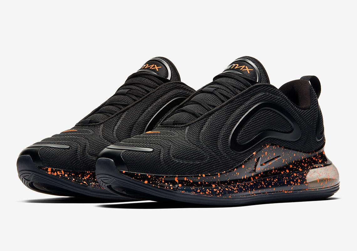 "Nike Air Max 720 ""Hot Lava"" Features Crimson Splatter Print"