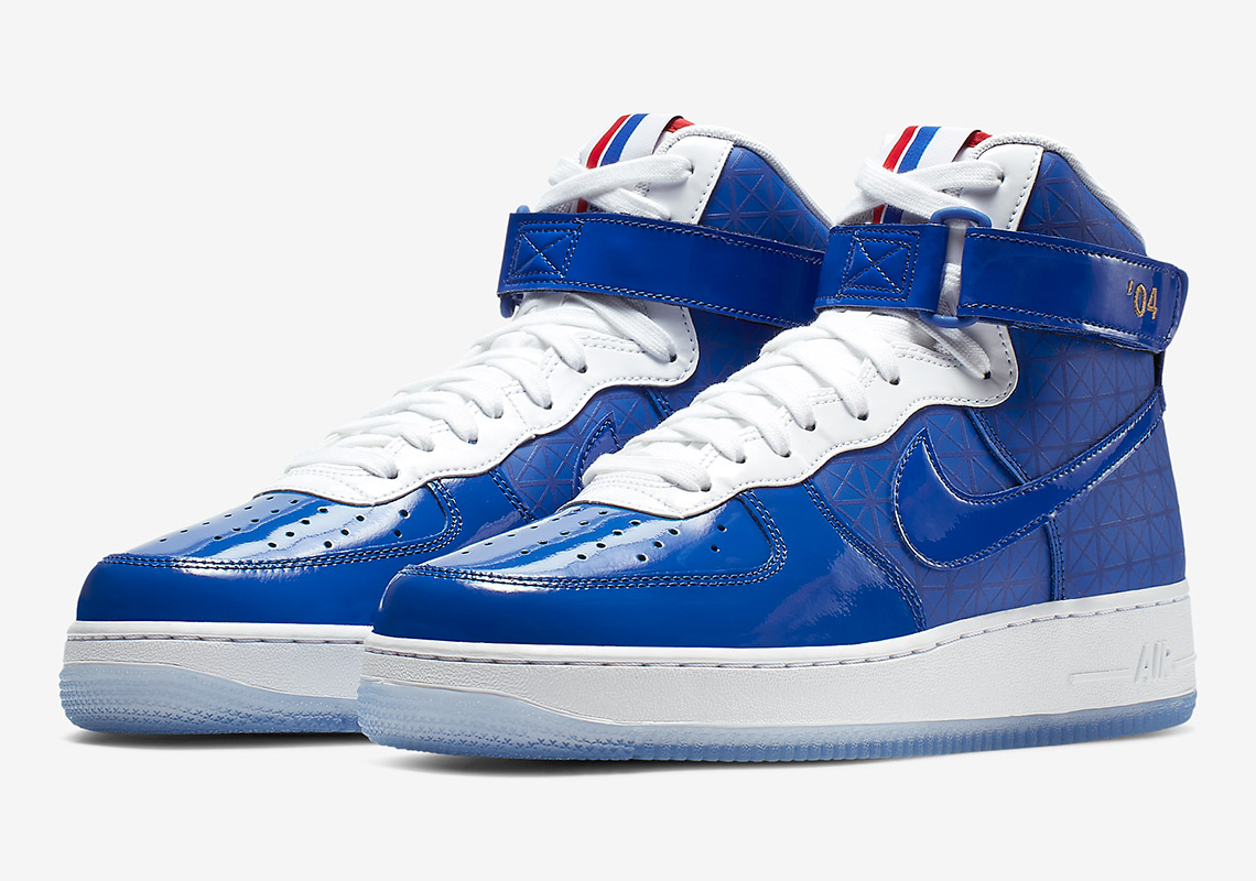 sports shoes a8889 b940a Nike Air Force 1 High Detroit Pistons CI9880 400 Release Info ...