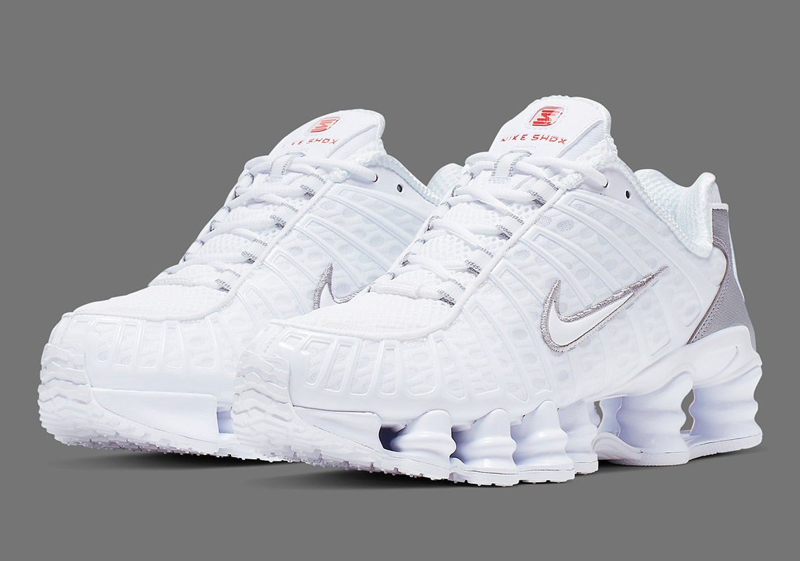 buy online 5edc4 31915 The Nike Shox Revival Continues With A New White And Silver TL