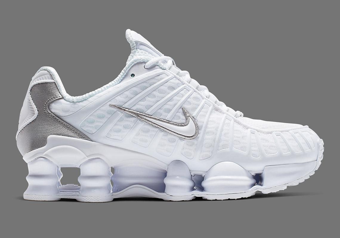 Nike Shox Tl White Silver Ar3566 100 Release Date Info