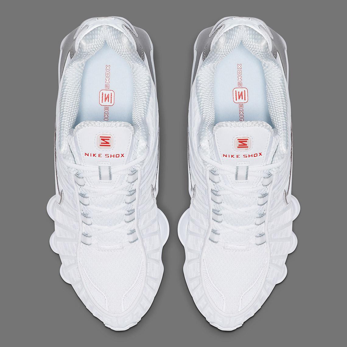 Nike Shox TL White Silver AR3566 100 Release Date + Info ...