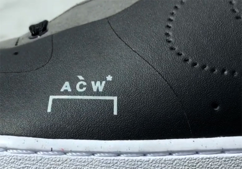 A Cold Wall Nike Air Force 1 Black White | SneakerNews.com