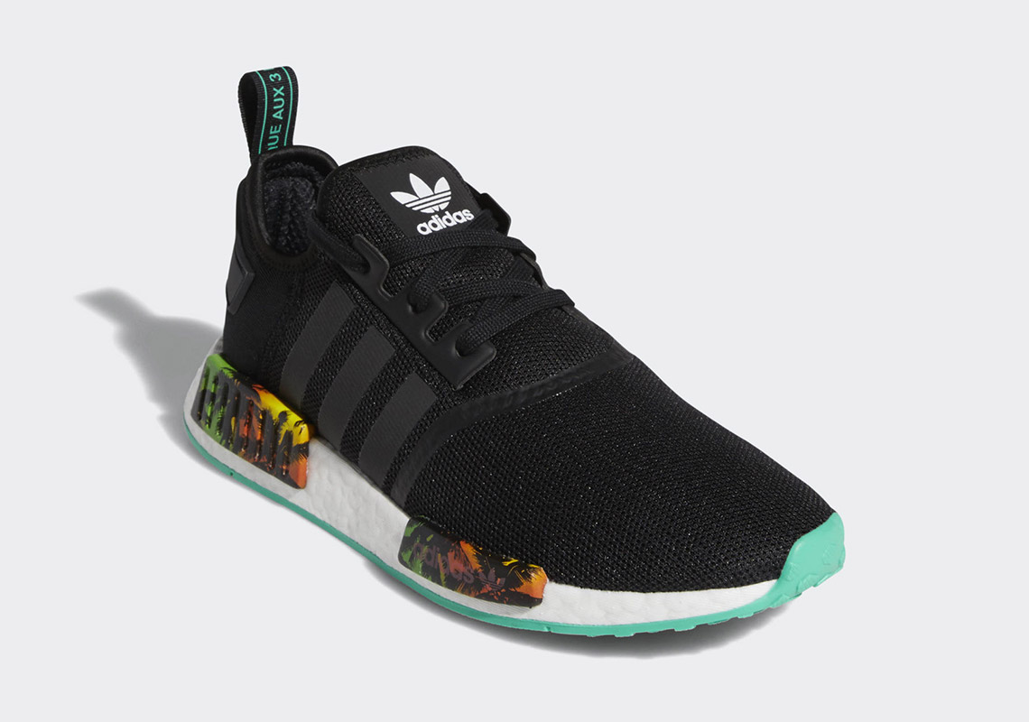 "buy online 50241 01416 adidas NMD R1 ""Palm Tree"" Release Date  Summer 2019. Style Code  EF2330"