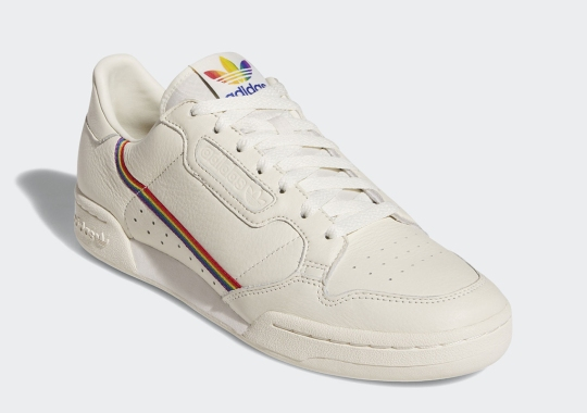 huge discount 05336 8dcf9 The adidas Continental 80 Celebrates Pride Month With Rainbow Ribbon Details