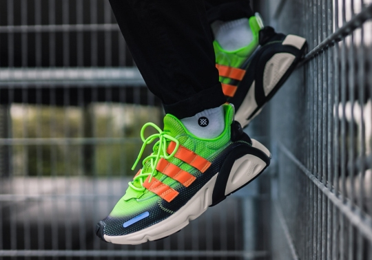"The adidas LXCON ""X-Model Pack"" Features Neon Gradient Uppers With Orange Stripes"