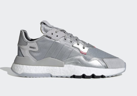 The adidas Nite Jogger Returns In A Silver Metallic Colorway