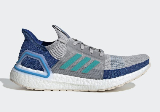 The adidas Ultra Boost 19 Arrives In Grey Two And Shock Cyan