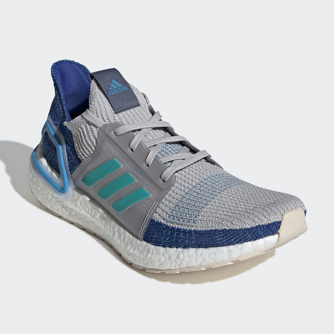 meet 82188 23d6f adidas Ultra Boost 19  190. Color  Grey Two Grey Two Shock Cyan