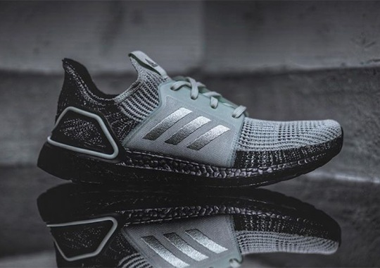 """the latest 3a5e8 eba2a adidas Ultra Boost 19 """"Oreo"""" Adds Black Soles"""