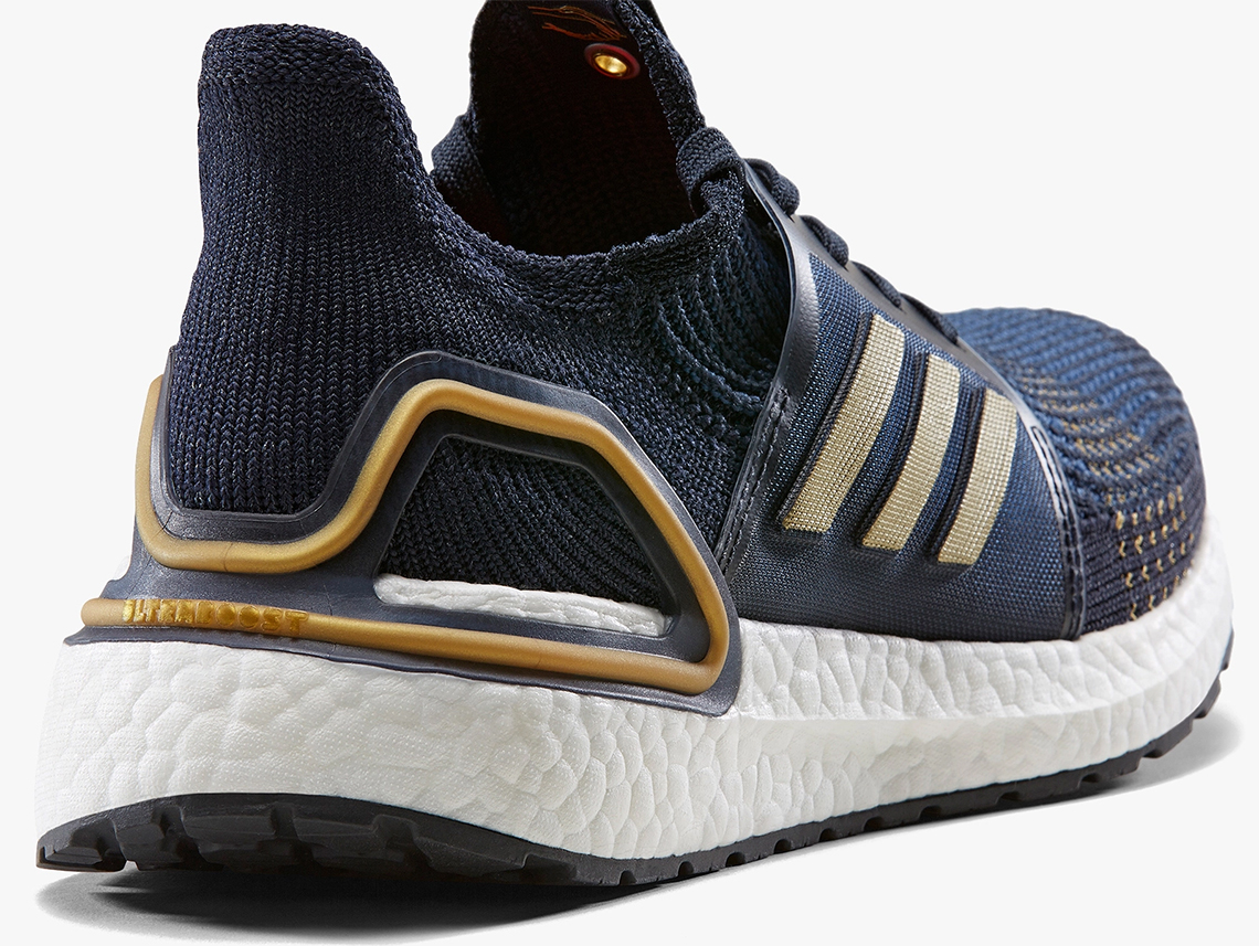 size 40 273d7 ac54c adidas Ultra Boost 2019 Navy Gold EE9447 Release Date ...