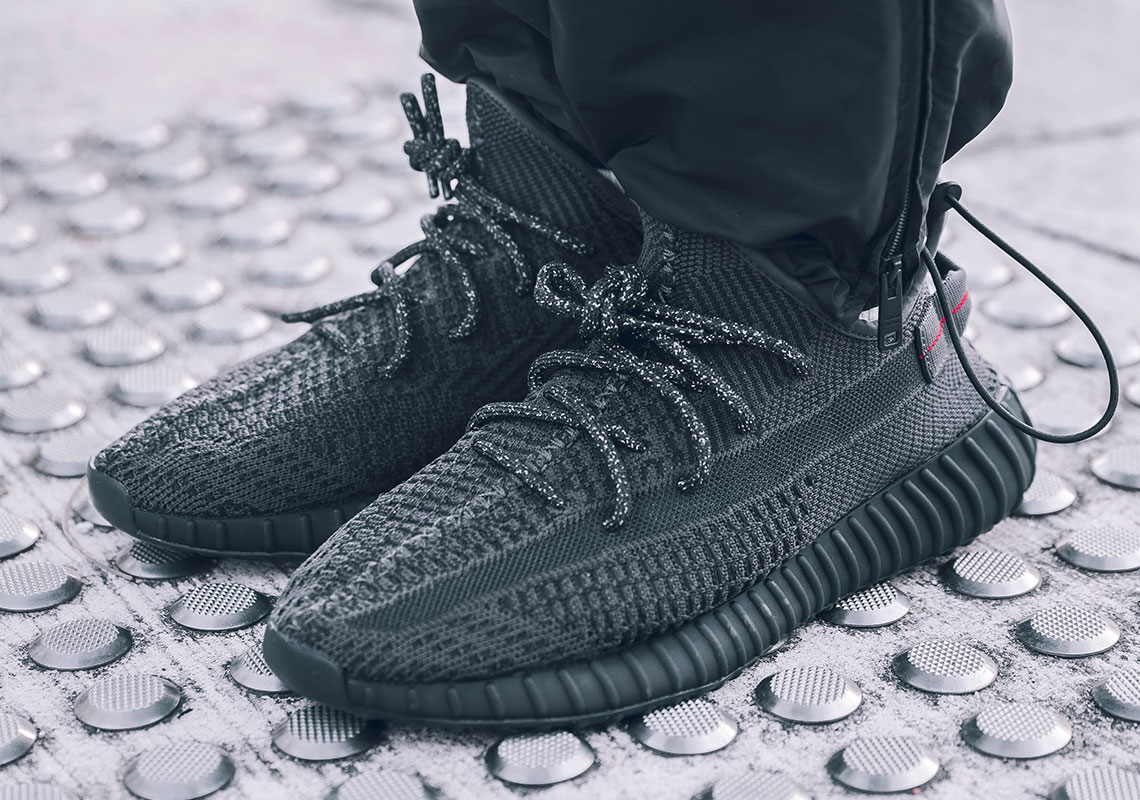 "0e65a6ac3 On Foot Look At The adidas Yeezy Boost 350 v2 ""Black"""